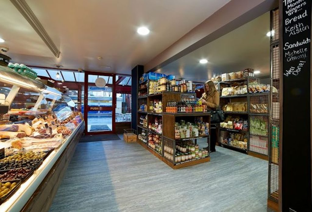 Commercial Flooring - an image of a flooring solution in a general grocery store